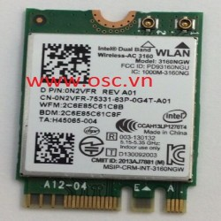 Cạc wifi Laptop Dell Inspiron 5458 5459 5558 5559 5755 5758  024- 3710 1468