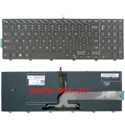 Bàn phím laptop Dell Inspiron 15 3552 3555 3565 3567 5559 5566 US Backlit Keyboard