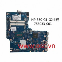 Main laptop HP 350 G1 G2 Motherboard 758033-001 6050A2608301-MB-A04 cpu on i3