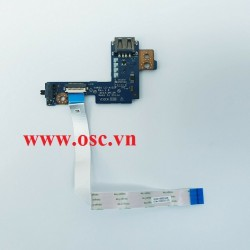 Vỉ usb trái laptop Dell Latitude E5540 USB Socket Wi-Fi Button Board With Cable - LS-A102P