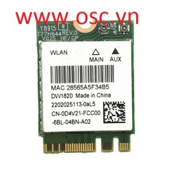 Cạc wifi laptop DELL DW1820 WLAN WiFi  3467 15 3567 3568 3562 3468 5567 5568 card D4V21 QCNFA344A